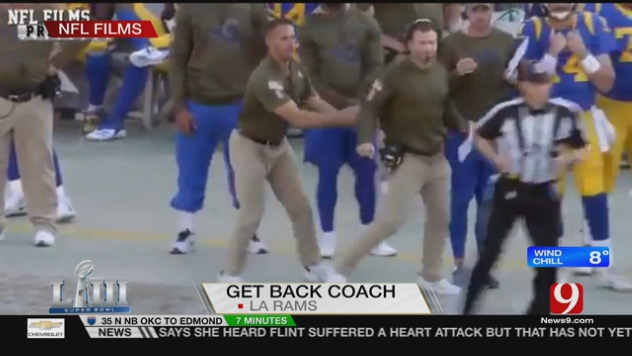 Jed And Lacey Reenact the LA Rams Viral 'Get Back' Coach Routine