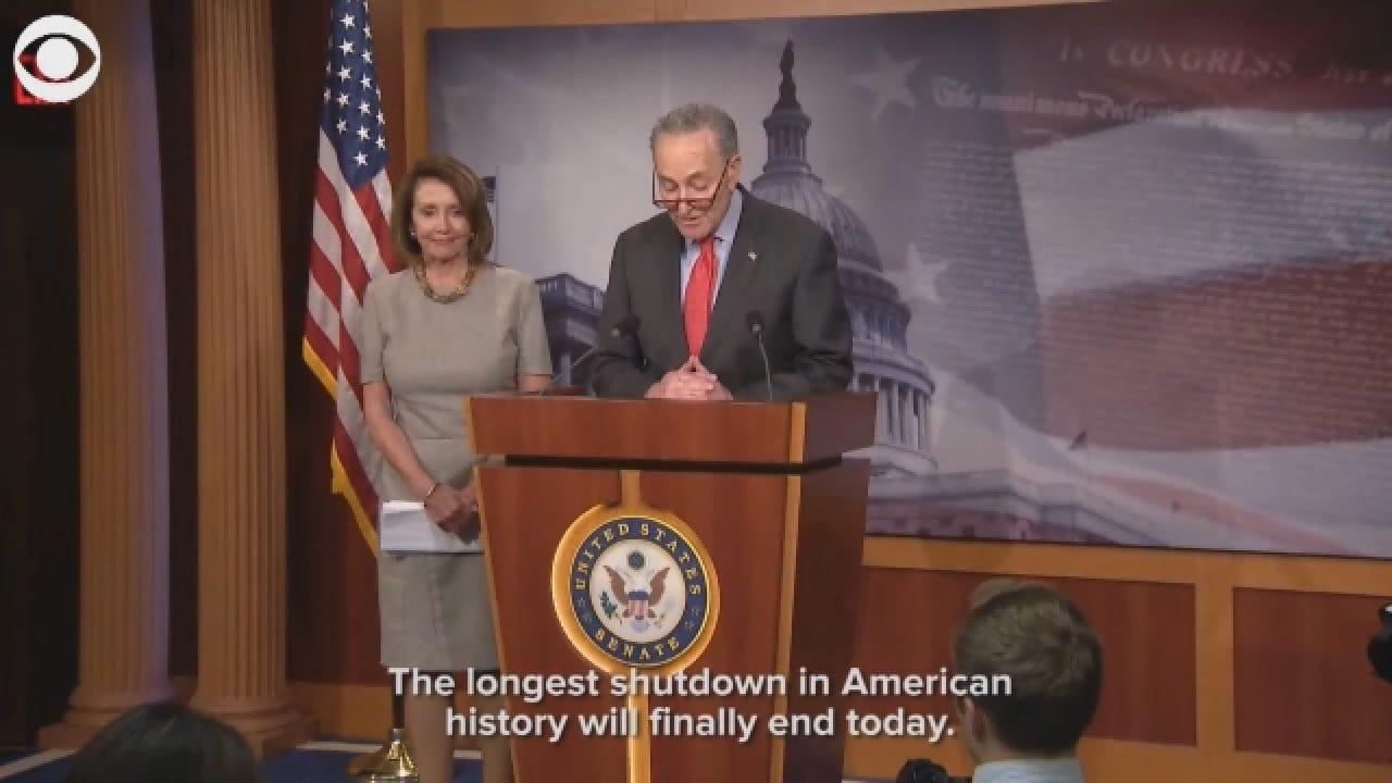 Sen. Schumer Talks About Agreement To End Government Shutdown
