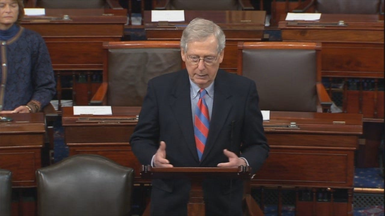 Senate Majority Leader Mitch McConnell Speaks After Trump's Announcement