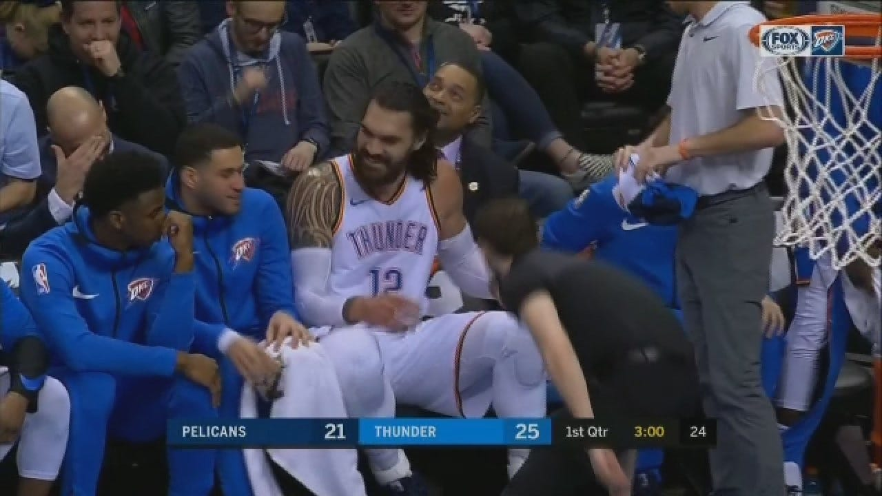 WATCH: Steven Adams' Euro Step Goes Terribly Wrong