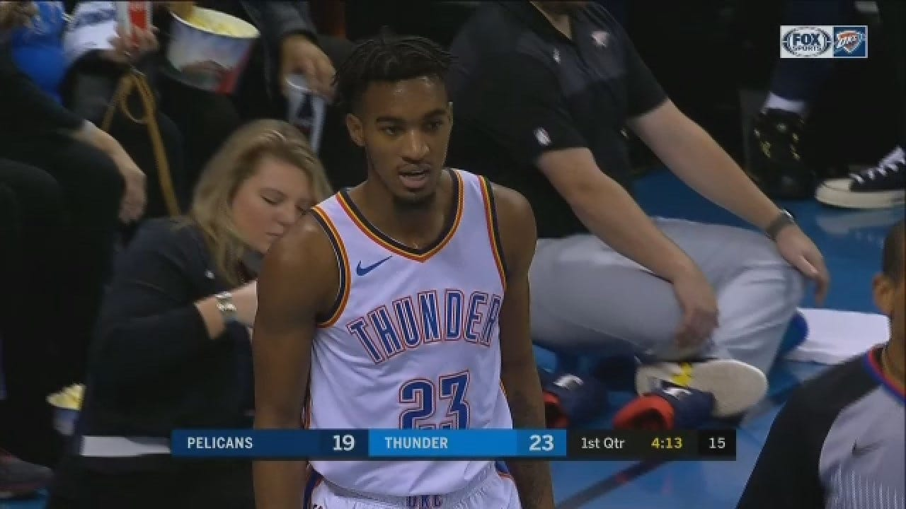 WATCH: Thunder's Ferguson Leapfrogs Pelicans' Player