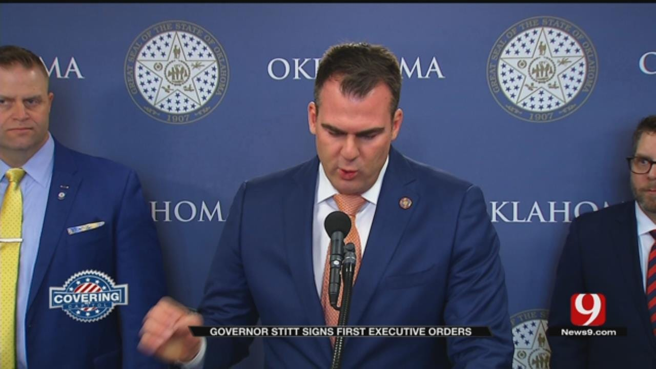 Governor Stitt Says First Executive Orders Will Save The State Money