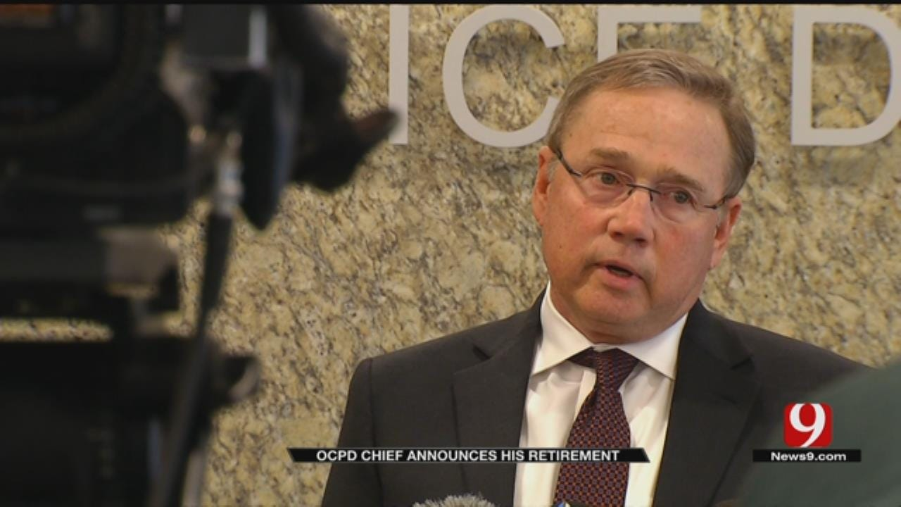 OKC Police Chief Bill Citty Gives Parting Words At Retirement Announcement