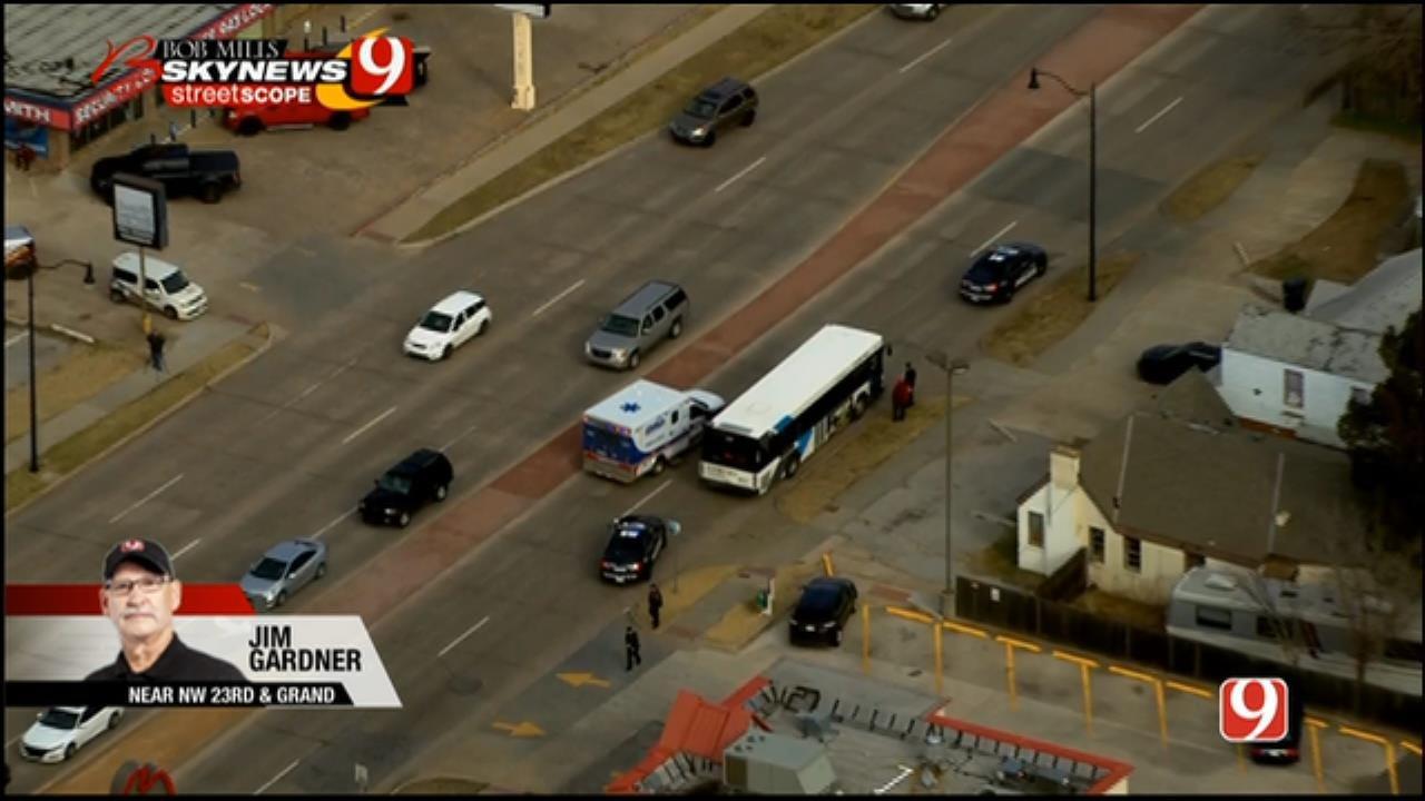 Bob Mills SkyNews 9 Flies Over Auto-Ped Crash Involving EMBARK bus
