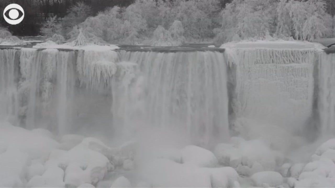 Parts Of Niagara Falls Froze During Deep Freeze