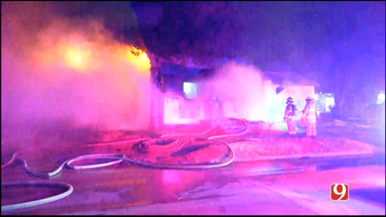 WATCH: Firefighters Battle SW OKC House Fire
