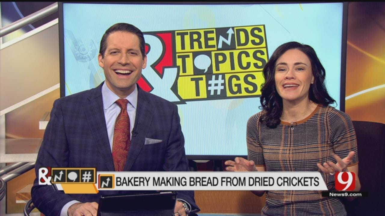 Trends, Topics & Tags: Bakery Makes Bread From Dried Crickets