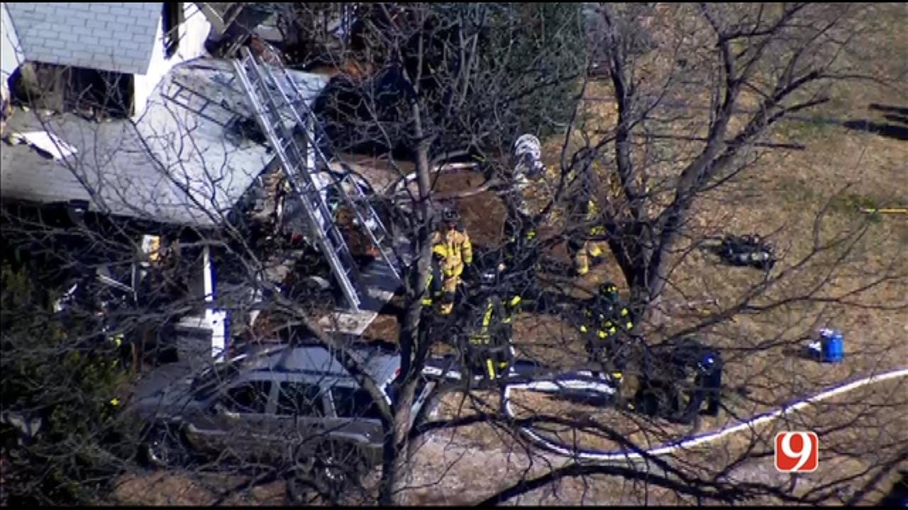 Crews Extinguish Guthrie House Fire