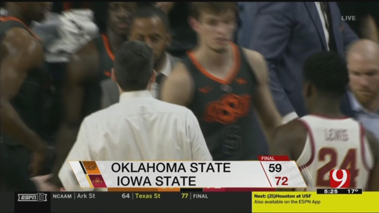 Iowa State Beats Oklahoma State 72-59