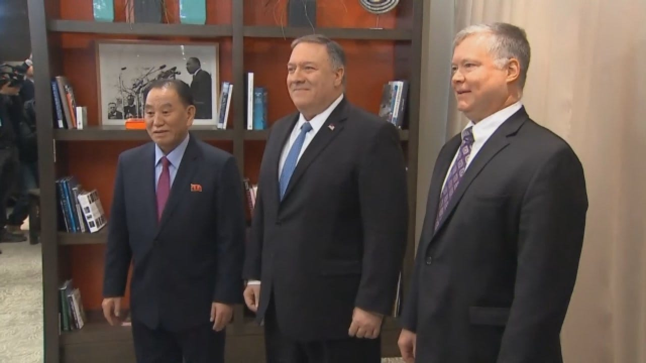 Pompeo, N Korean Official Meet To Discuss Possible 2nd Kim Summit