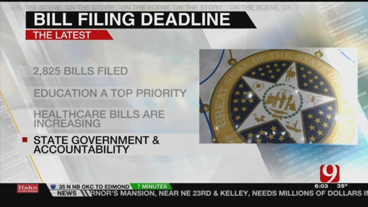 Friday Is Deadline For State Lawmakers To File Bills