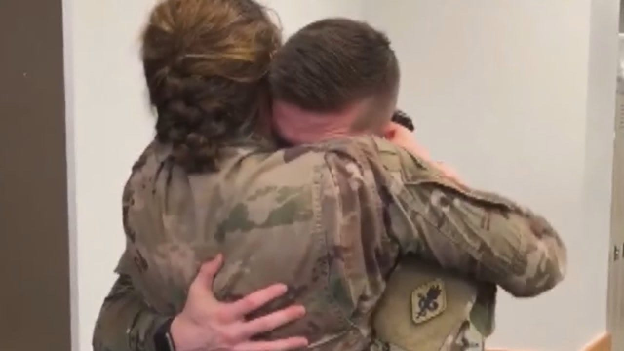 WATCH: Military Wife Surprises Her Fellow Officer Husband