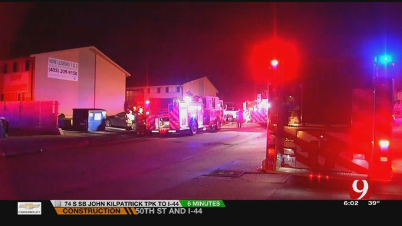 1 Arrested At Scene Of Overnight OKC Apartment Blaze