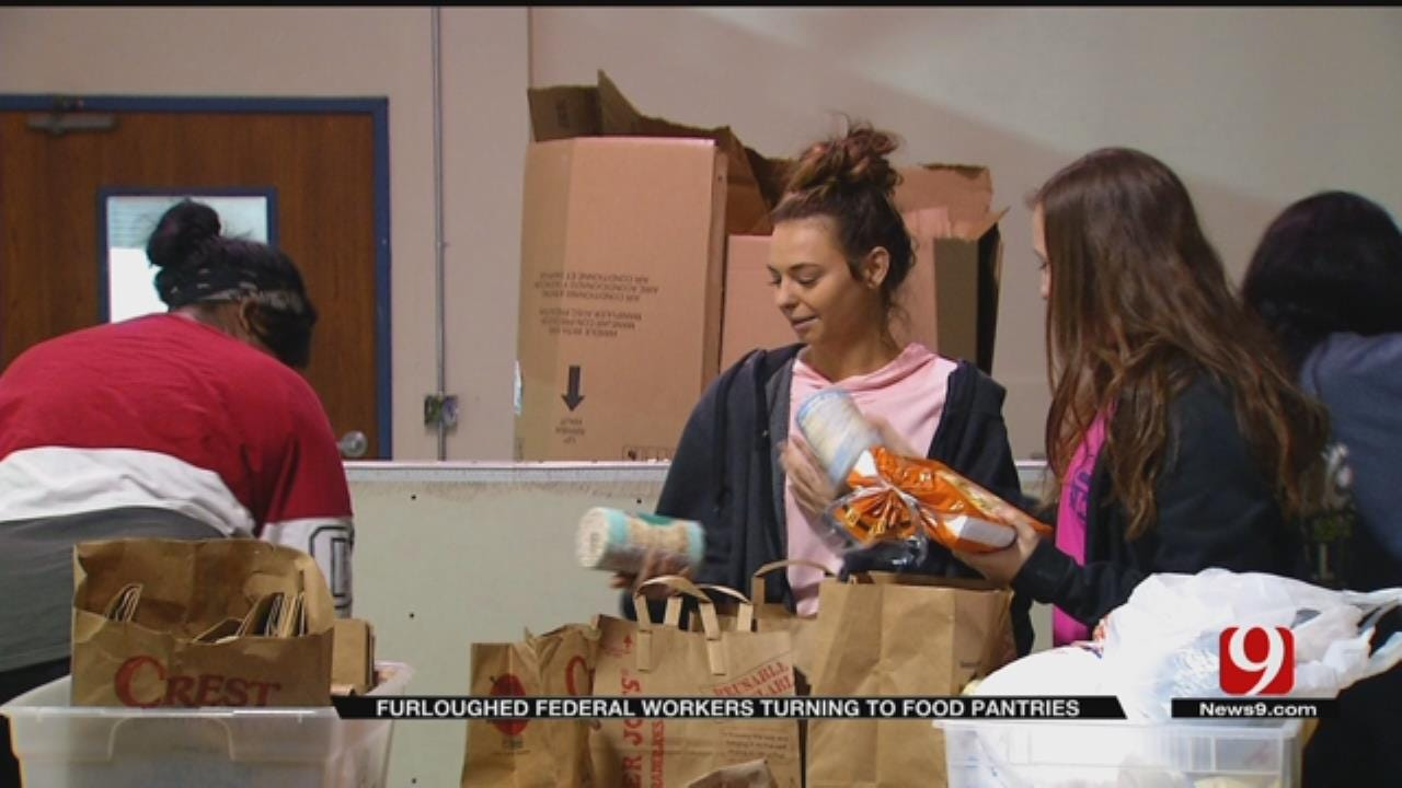 Furloughed Federal Workers Turning To Oklahoma Food Pantries