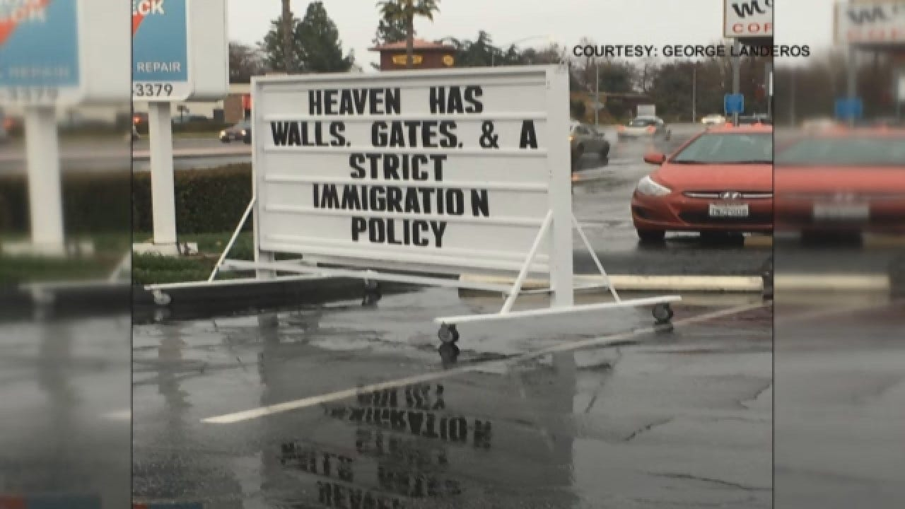 Sign At Fresno Gas Station Sparks Controversy