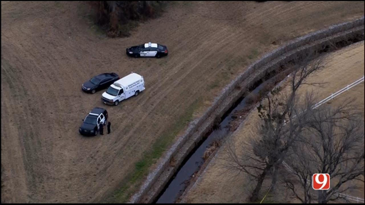 Bob Mills SkyNews 9 Flies Over Scene After Body Found In MWC