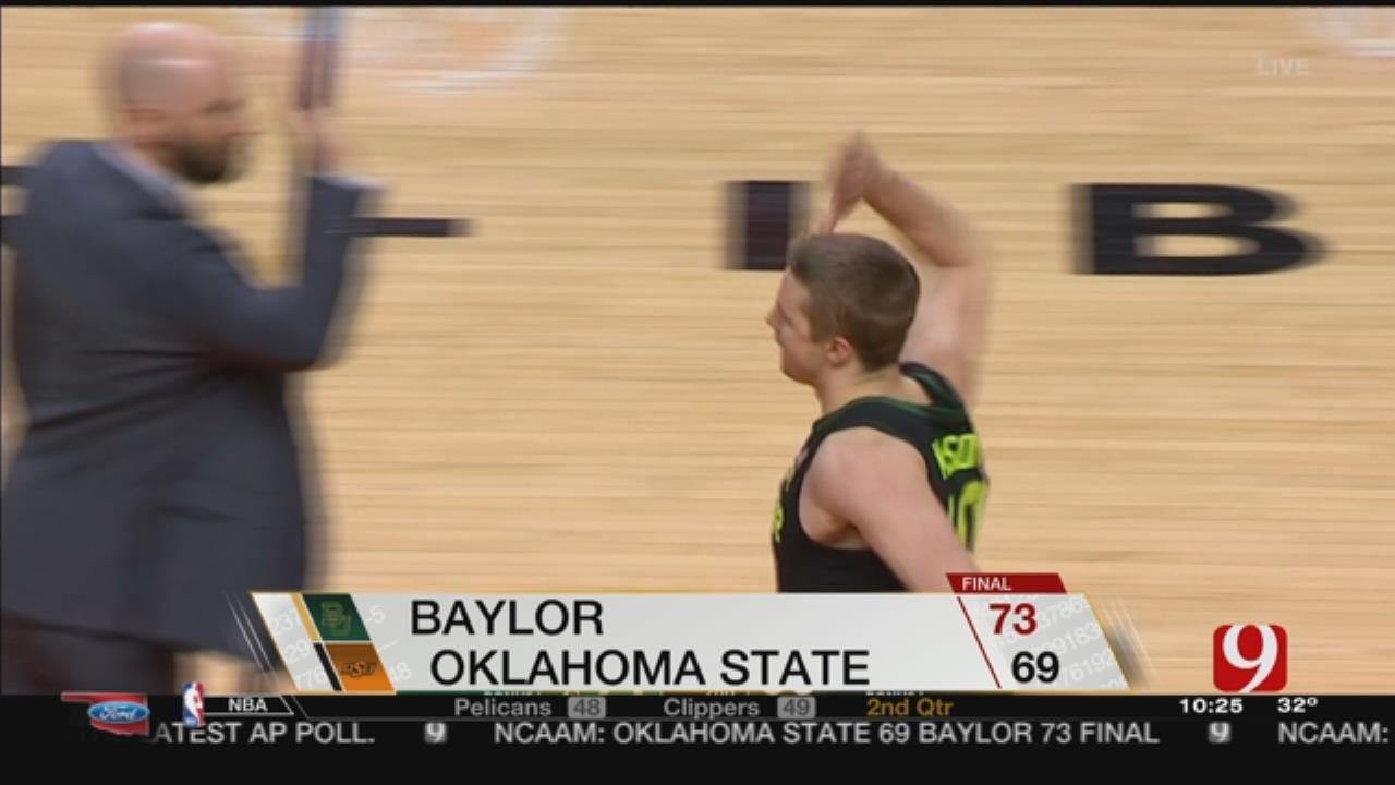Oklahoma State Men Fall To Baylor, 73-69