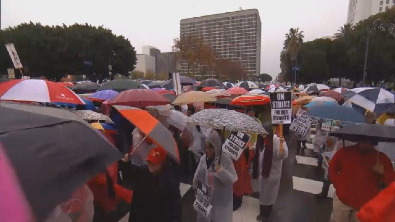 Tens Of Thousands Strike For Education In Los Angeles