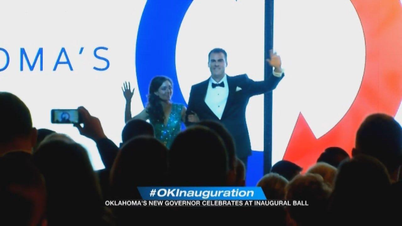 Governor Stitt Celebrates At Inaugural Ball