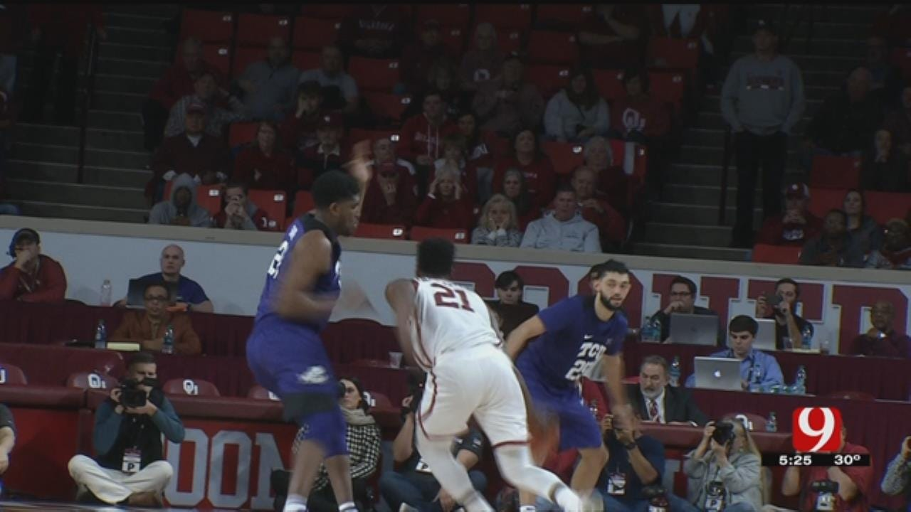 No. 23 Oklahoma Tops No. 25 TCU 76-74 On Doolittle's Shot