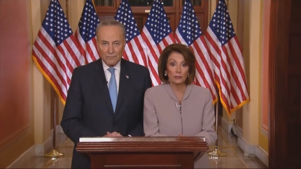 Speaker Pelosi, Senate Minority Leader Schumer Respond To President Trump's Address