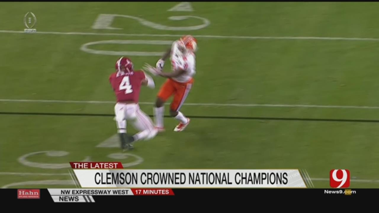 Clemson Topples No.1 'Bama For National Title