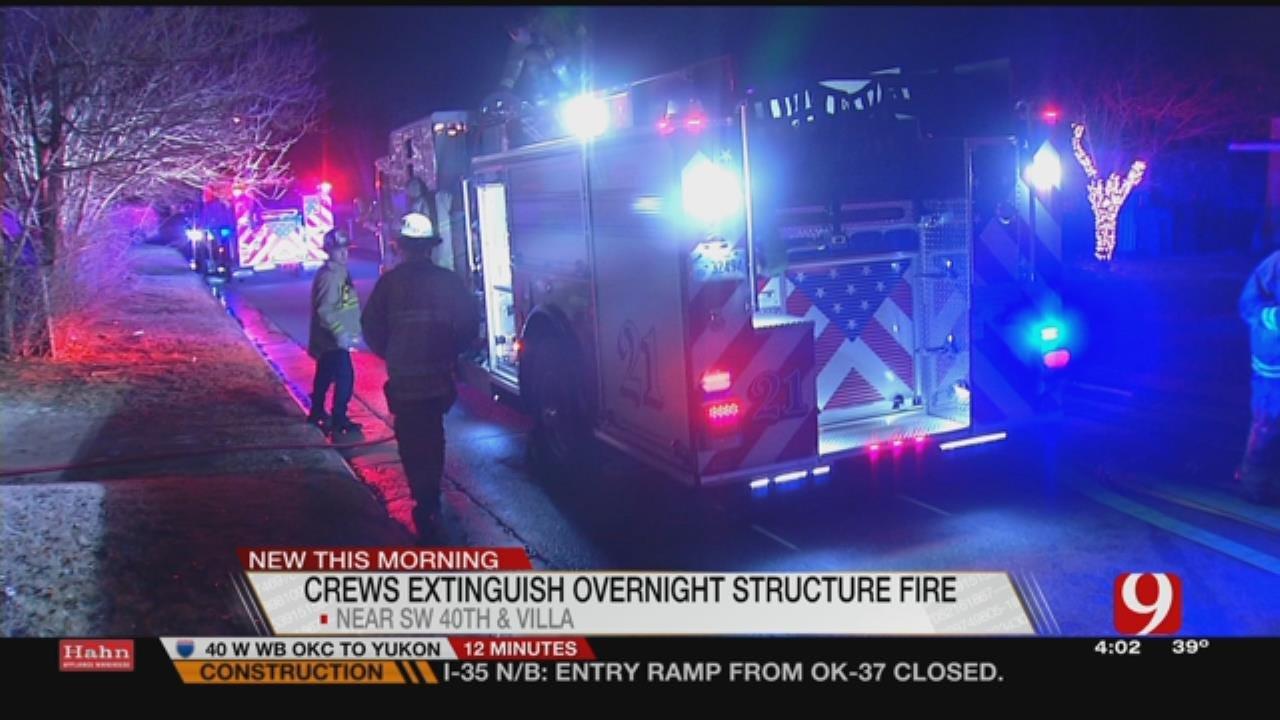 Crews Respond To Overnight SW OKC Structure Fire