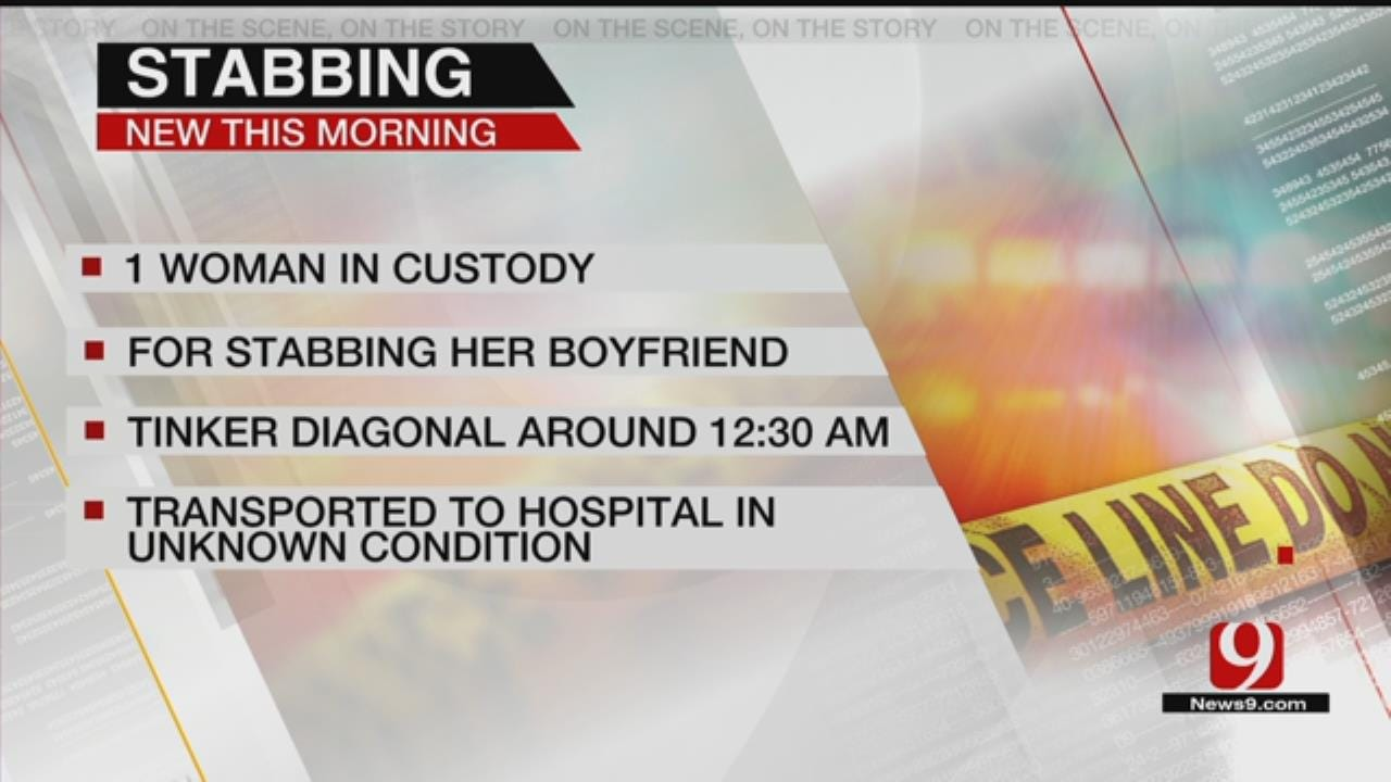 OKC Woman In Custody, Accused Of Stabbing Her Boyfriend