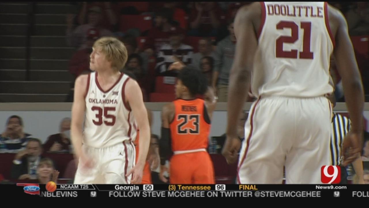 Doolittle Scores 16, Leads No.23 Oklahoma Past Oklahoma St.