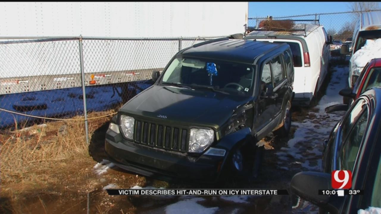 Victim Describes Edmond Hit-And-Run Crash During Winter Storm