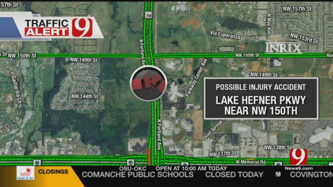 WATCH: Crews Respond To Multi-Vehicle Injury Accident On Hefner Parkway