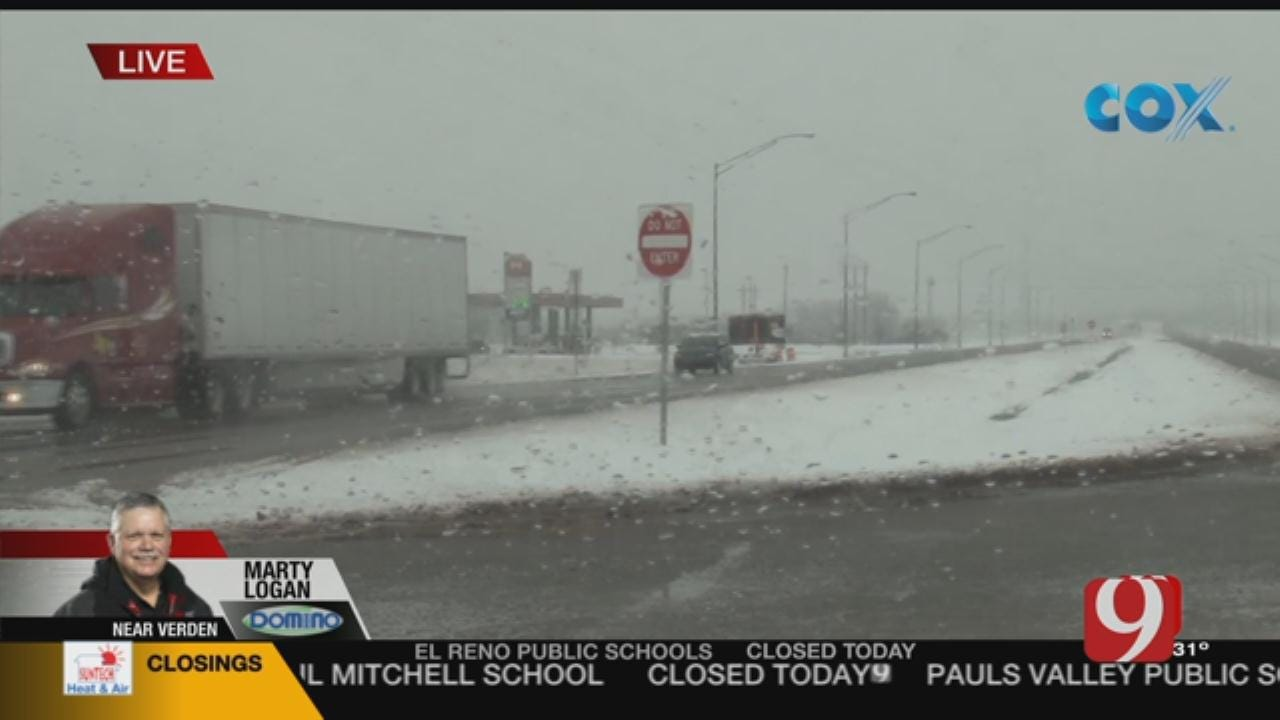 Oklahoma Road Conditions: Marty Logan Reports From Grady County (Verden)