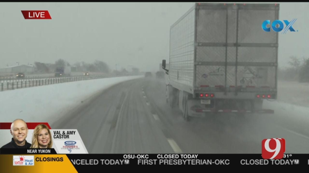 Oklahoma Road Conditions: Val Reports From El Reno, Yukon Area (10:10 A.M.)