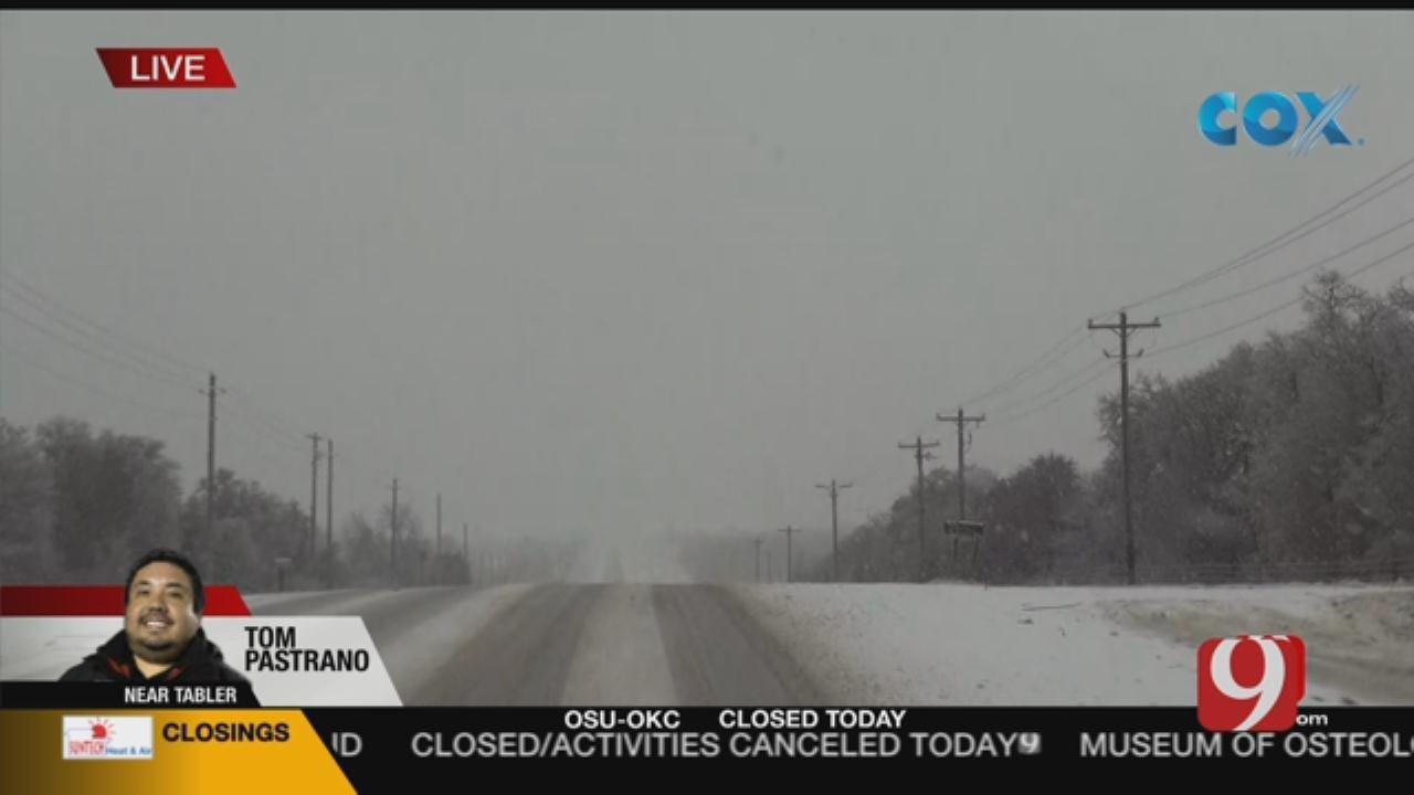 Road Conditions Report: Tom Pastrano In SW OKC (9:30 a.m.)