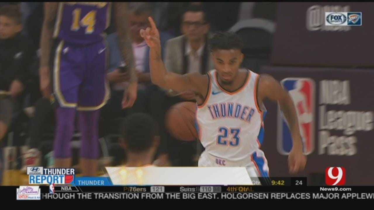 Paul George Gets 37 Amid Books In OKC's 107-100 Win At Lakers