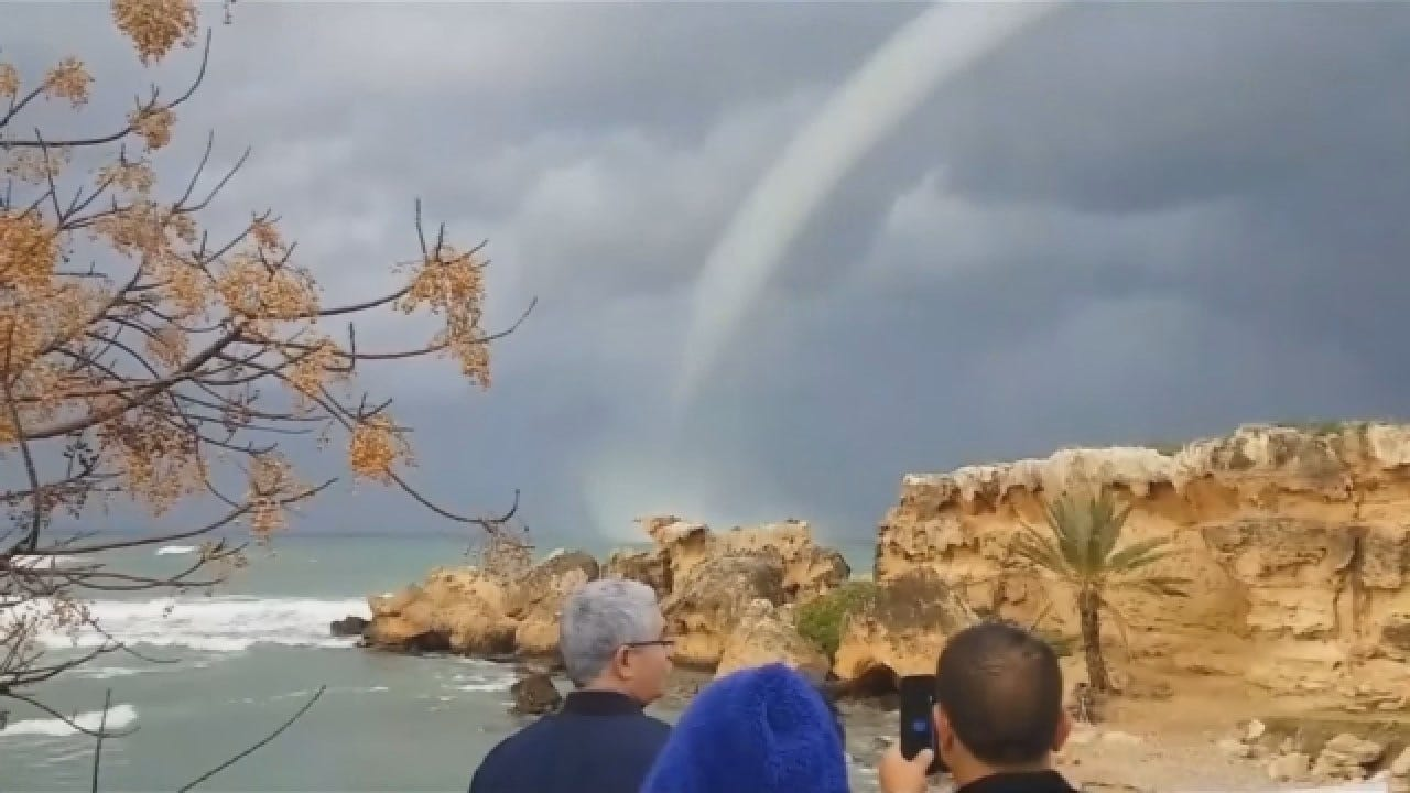 Waterspout Forms Off Coast Of Cyprus