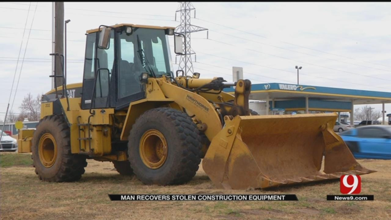 Owner Takes Back Front Loader Stolen From OKC Construction Site