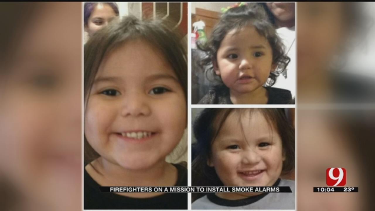 El Reno Firefighters Preach Smoke Detectors Year After Fire Kills Three Children