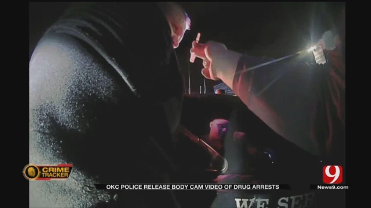 OCPD Bodycam Video Shows Meth, Explosives Found On 2 Men