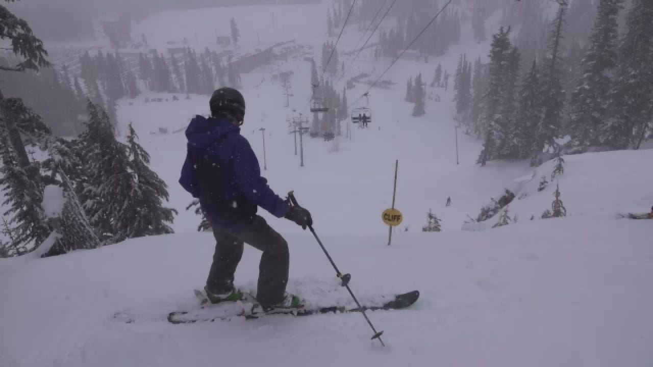 Oregon Skiers Enjoy Fresh Powder