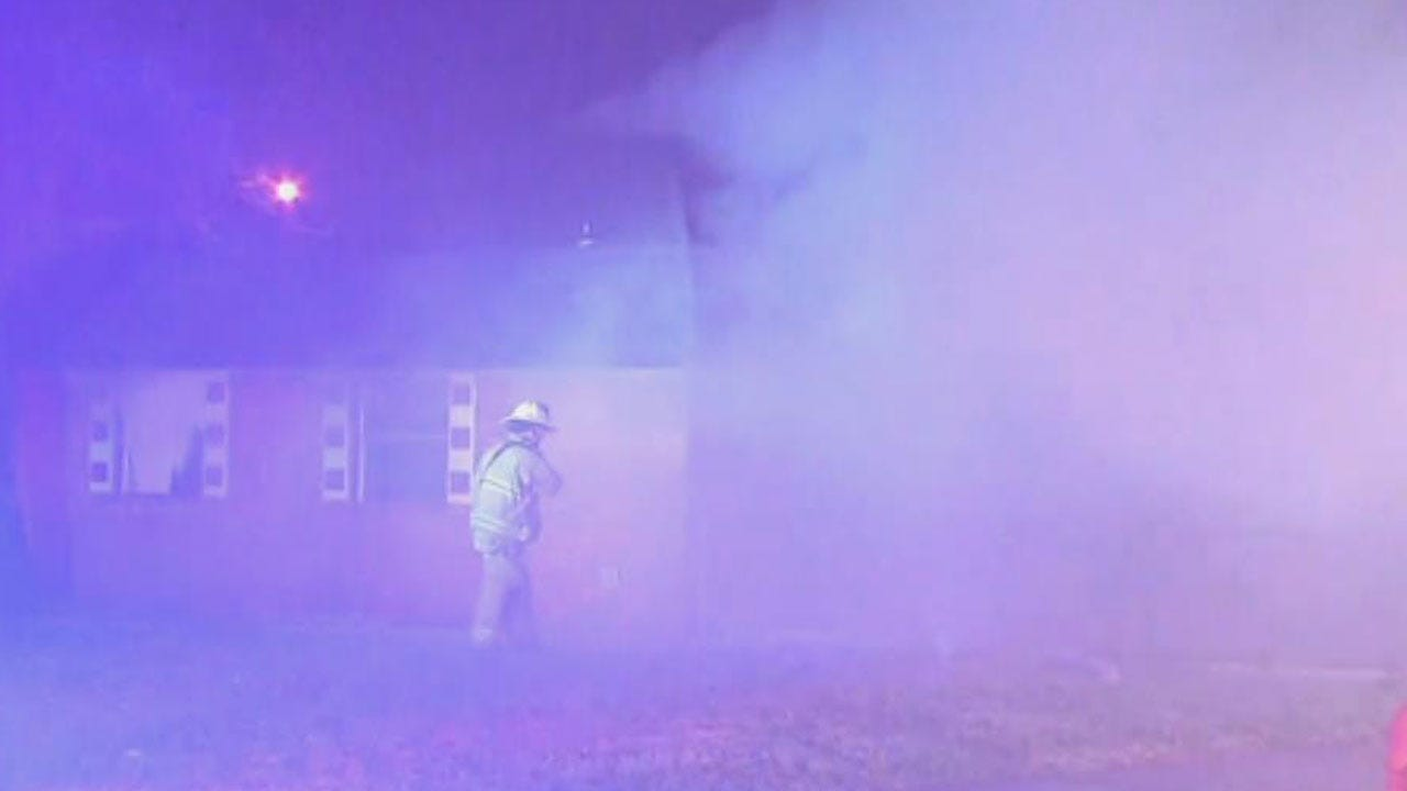 Crews Extinguish Flames On Vacant Home In SW OKC