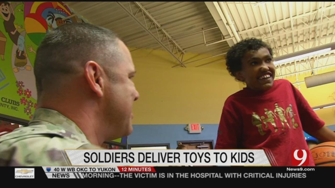 Boys & Girls Club Visited By Oklahoma City Soldiers