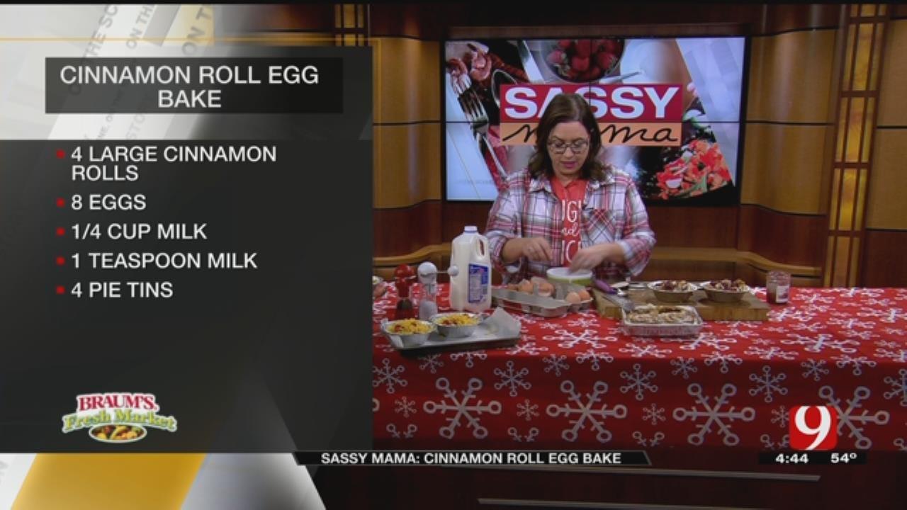 Cinnamon Roll Egg Bake
