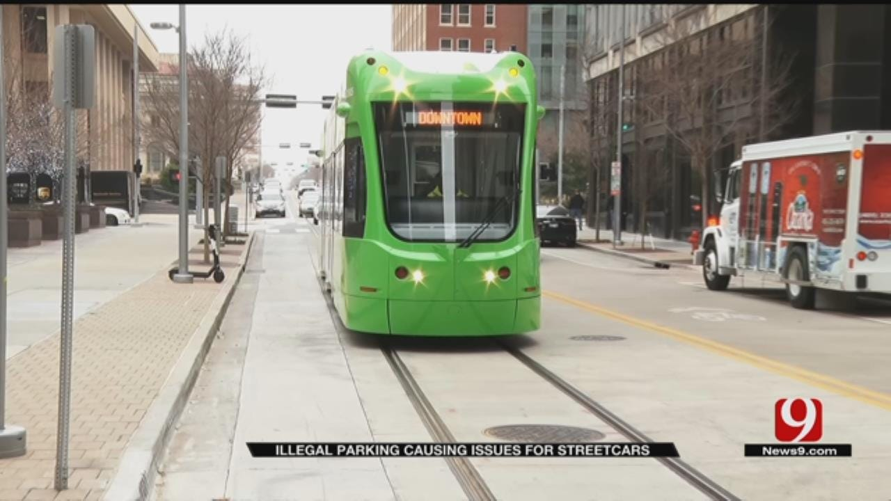 Illegal Parking Causes Issues For Streetcars