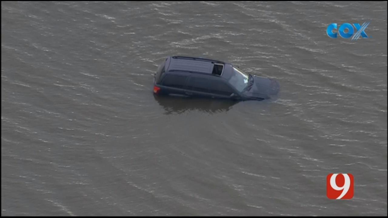 Vehicle Stuck In Lake Overholser