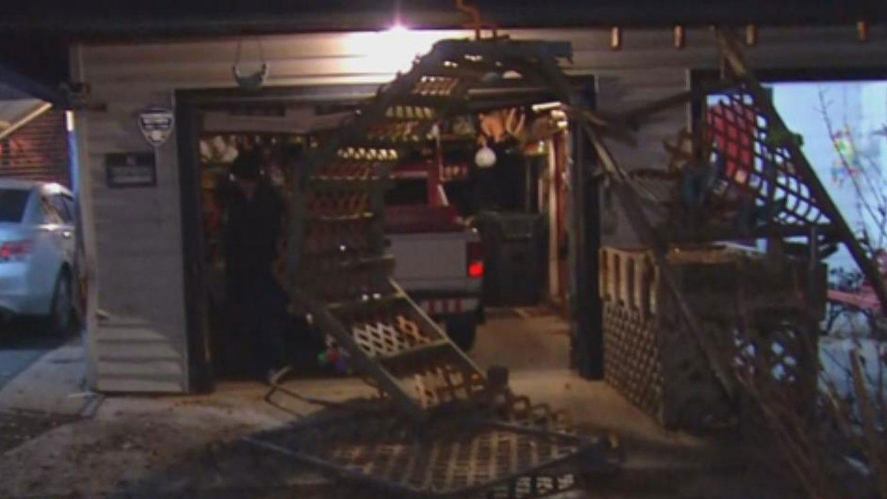 Suspect Crashes Stolen Vehicle In SW OKC House