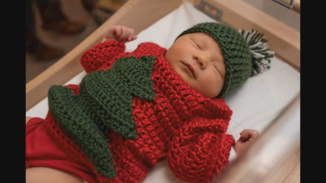 Newborns Dressed-Up For Ugly Sweater Party
