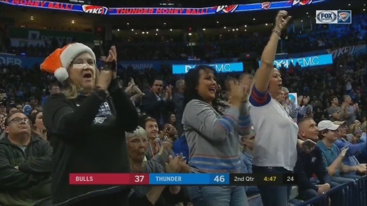 Paul George Drains 3-Pointer in Transition To Ignite Thunder Crowd