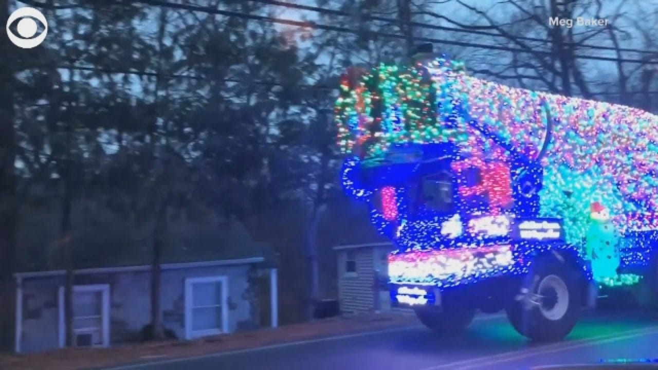 Decorated Cement Truck Spreads Holiday Joy