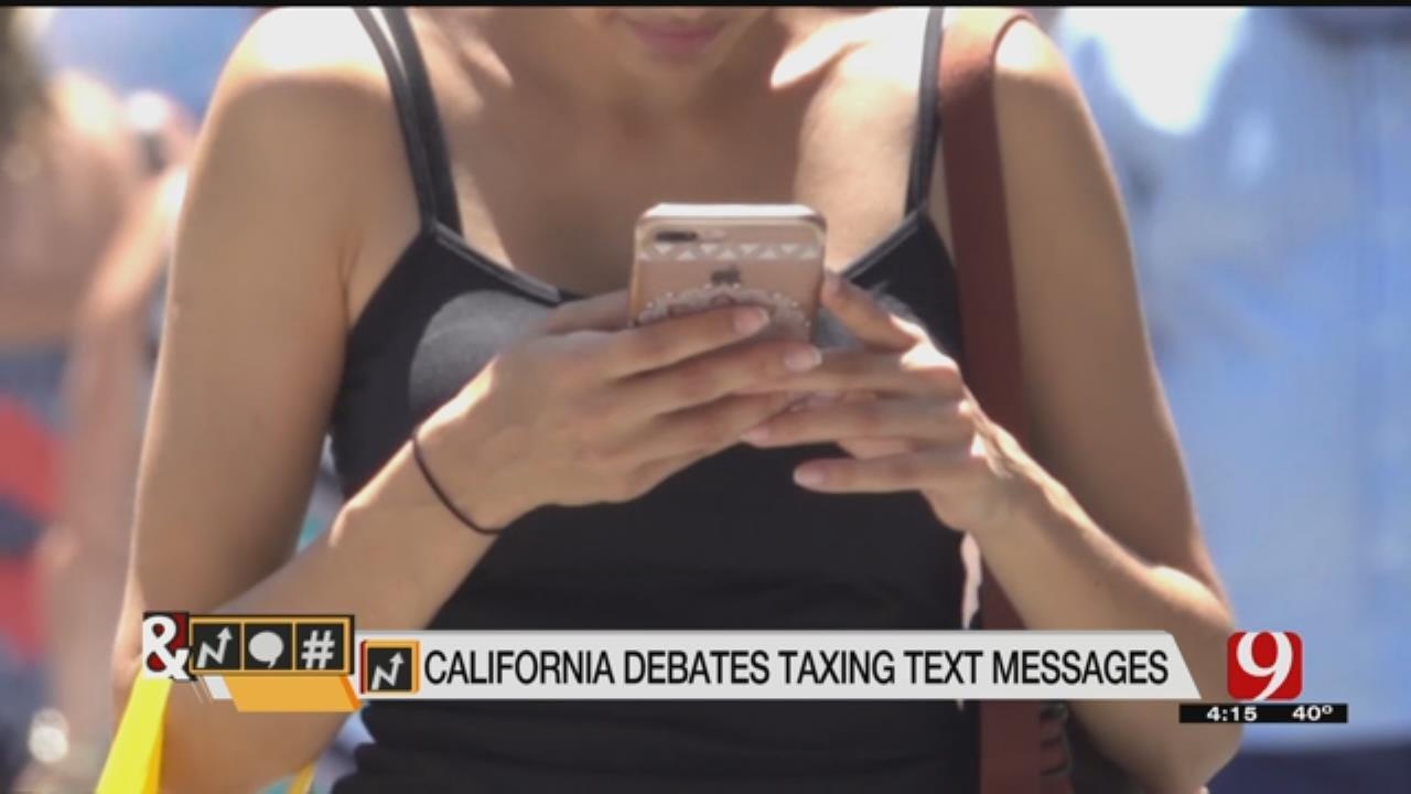 Trends, Topics & Tags: California Debates Taxing Text Messages